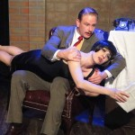 Matt Lunsford and Amy E. Gray in Jobsite's The 39 Steps. (Photo by Brian Smallheer.)