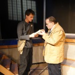 Chris Jackson and Ned Averill-Snell in Jobsite's Fahrenheit 451. (Photo by Brian Smallheer.)
