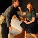 Chris Jackson and Katie Castonguay in Jobsite's Fahrenheit 451. (Photo by Brian Smallheer.)