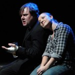 Brian Shea and Caitlin Eason in Jobsite's The Lonesome West. (Photo by Brian Smallheer.)