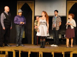 The Ensemble of Jobsite's The Taming of the Shrew. (Photo by Brian Smallheer.)