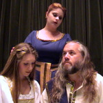 (L-R) Sara Collins, Katrina Stevenson and John Snell in Jobsite's Titus Andronicus.