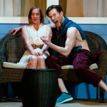 Emily Belvo and Jamie Jones in Jobsite's Vanya and Sonia and Masha and Spike. (Photo by Crawford Long.)