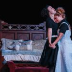"""Tension crackles between Georgia Mallory Guy as Solange and Katrina Stevenson as Claire in Jobsite's production of """"The Maids"""" at the Straz Center. CRAWFORD LONG"""