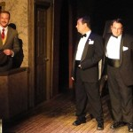 (L-R) Matt Lunsford, Brian Shea and Spencer Meyers in Jobsite's The 39 Steps. (Photo by Brian Smallheer.)