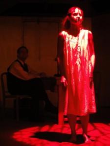 David Jenkins and Katrina Stevenson in Jobsite's Closetland. (Photo by Brian Smallheer.)
