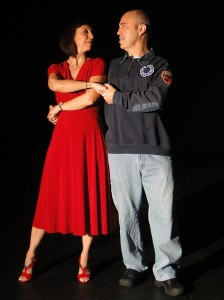Roz Potenza and Paul Potenza in Jobsite's The Guys. (Photo by Brian Smallheer.)