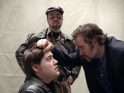 (L-R) Ryan McCarthy, Paul J. Potenza, and Ned Averill-Snell in Jobsite's American Buffalo. (Photo by Brian Smallheer.)