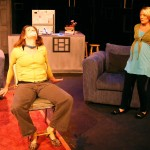 (L-R) Jessica Rothert and Alison Burns in Jobsite's And Baby Make Seven. (Photo by Brian Smallheer.)