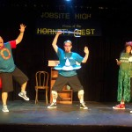 (L-R) Shawn Paonessa, David M. Jenkins and Jason Evans in Jobsite's All the Great Books (abridged).