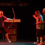 (L-R) Shawn Paonessa, Jason Evans and David M. Jenkins in Jobsite's All the Great Books (abridged).