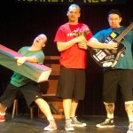 (L-R) Jason Evans, Shawn Paonessa and David M. Jenkins in Jobsite's All the Great Books (abridged).