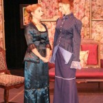 (L-R) Katrina Stevenson and Emilia Sargent in Jobsite's Boston Marriage. (Photo by Brian Smallheer.)