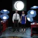 Steve Garland and Meg Heimstead in Jobsite's Dead Man's Cell Phone. (Photo by Brian Smallheer.)