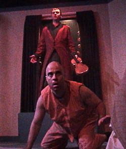 (from top) Brian Shea and Paul J. Potenza in Jobsite's Dracula.