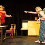 (L-R) Nevada Caldwell, Summer Bohnenkamp, Kari Goetz and Shawn Paonessa in Jobsite's A Girl's Guide to Chaos. (Photo by Brian Smallheer.)