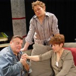 (clock. from top) Eric Burgess, Monica Merryman and Steven Clark Pachosa in Jobsite's The Goat or Who is Sylvia?