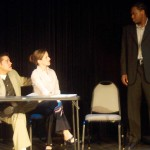 (L-R) Ryan McCarthy, Heather Scheffel and David Dolphy in Jobsite's This is How it Goes.