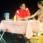 (L-R) Ryan McCarthy and Heather Scheffel in Jobsite's This is How it Goes.