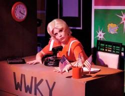 Katrina Stevenson in Jobsite's The Mineola Twins. (Photo by Brian Smallheer.)