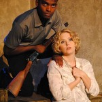 Dayton Sinkia and Kari Goetz in Jobsite's Night of the Living Dead. (Photo by Brian Smallheer.)