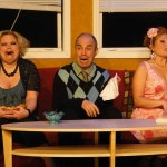 (L-R) Summer Bohnenkamp, Paul Potenza and Katrina Stevenson in Jobsite's The Odd Couple. (Photo by Brian Smallheer.)