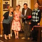 (L-R) Summer Bohnenkamp, Katrina Stevenson, Shawn Paonessa and Paul Potenza in Jobsite's The Odd Couple. (Photo by Brian Smallheer.)