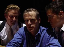 (L-R) Matt Lunsford, Steve Garland and Ryan McCarthy in Jobsite's The Pillowman.