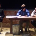 (L-R) Matt Lunsford, Steve Garland and Ryan McCarthy in Jobsite's The Pillowman.