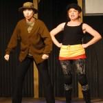 Amy E. Gray and Katie Castonguay in Jobsite's The Taming of the Shrew. (Photo by Brian Smallheer.)