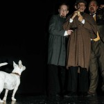 David M. Jenkins, Giles Davies and Shawn Paonessa in Jobsite's The Hound of the Baskervilles. (Photo by Crawford Long.)