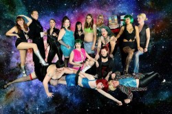 The Ensemble of Sluts in Space, Episode 1. (Photo by Drunk Camera Guy.)