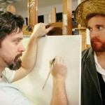 Steve Fisher and Jordan Foote in Jobsite's Inventing Van Gogh.