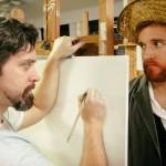 Steve Fisher and Jordan Foote in Jobsite's Inventing Van Gogh.