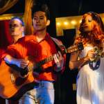 (L-R) Spencer Meyers, J. Elijah Cho and Katrina Stevenson in Jobsite's Vampire Lesbians of Sodom. (Photo courtesy Crawford Long.)