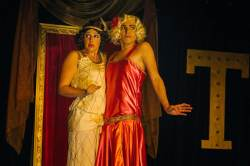Maggie Mularz and Zachary Hines in Jobsite's Vampire Lesbians of Sodom. (Photo courtesy Crawford Long.)