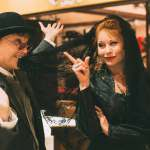 Roxanne Fay and Katrina Stevenson in Jobsite's Twelfth Night. (Photo courtesy Crawford Long.)