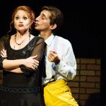 Katrina Stevenson and Giles Davies in Jobsite's Twelfth Night. (Courtesy Crawford Long.)