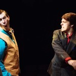 Jamie Jones and Nick Hoop in Jobsite's Twelfth Night. (Courtesy Crawford Long.)