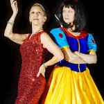 (L-R) Roz Potenza and Elizabeth Fendrick in Jobsite's Vanya and Sonia and Masha and Spike. (Photo by Crawford Long.)