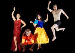 (L-R) Roz Potenza, Brian Shea, Elizabeth Fendrick and Jamie Jones in Jobsite's Vanya and Sonia and Masha and Spike. (Photo by Crawford Long.)