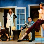 (L-R) Roz Potenza, Elizabeth Fendrick, Brian Shea and Jamie Jones in Jobsite's Vanya and Sonia and Masha and Spike. (Photo by Crawford Long.)