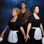 (L-R) Katrina Stevenson, Roxanne Fay and Georgia Mallory Guy in Jobsite's The Maids. (Photo by Pritchard Photography.)
