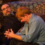 Brian Shea and David M. Jenkins in Jobsite's Time Stands Still. (Photo by Pritchard Photography.)