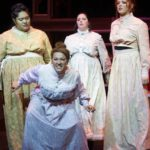 (L-R) Fo'i Mealeah, Heather Krueger, Colleen Cherry and Christina Capehart in Jobsite's LIZZIE. (Photo by Pritchard Photography.)