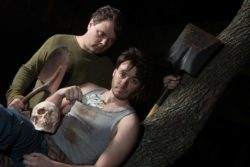 Brian Shea (top) and Brandon Mauro in Jobsite's A Skull in Connemara. (Photo by Pritchard Photography.)