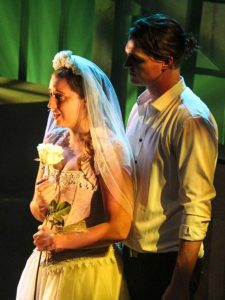 Maggie Phillips and Chris Jackson in Jobsite's The Threepenny Opera. (Photo courtesy Angelina Hill and Sickles TV Production.)