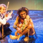 Roxanne Fay and Giles Davies in Jobsite's The Tempest. (Photos by Pritchard Photography.)