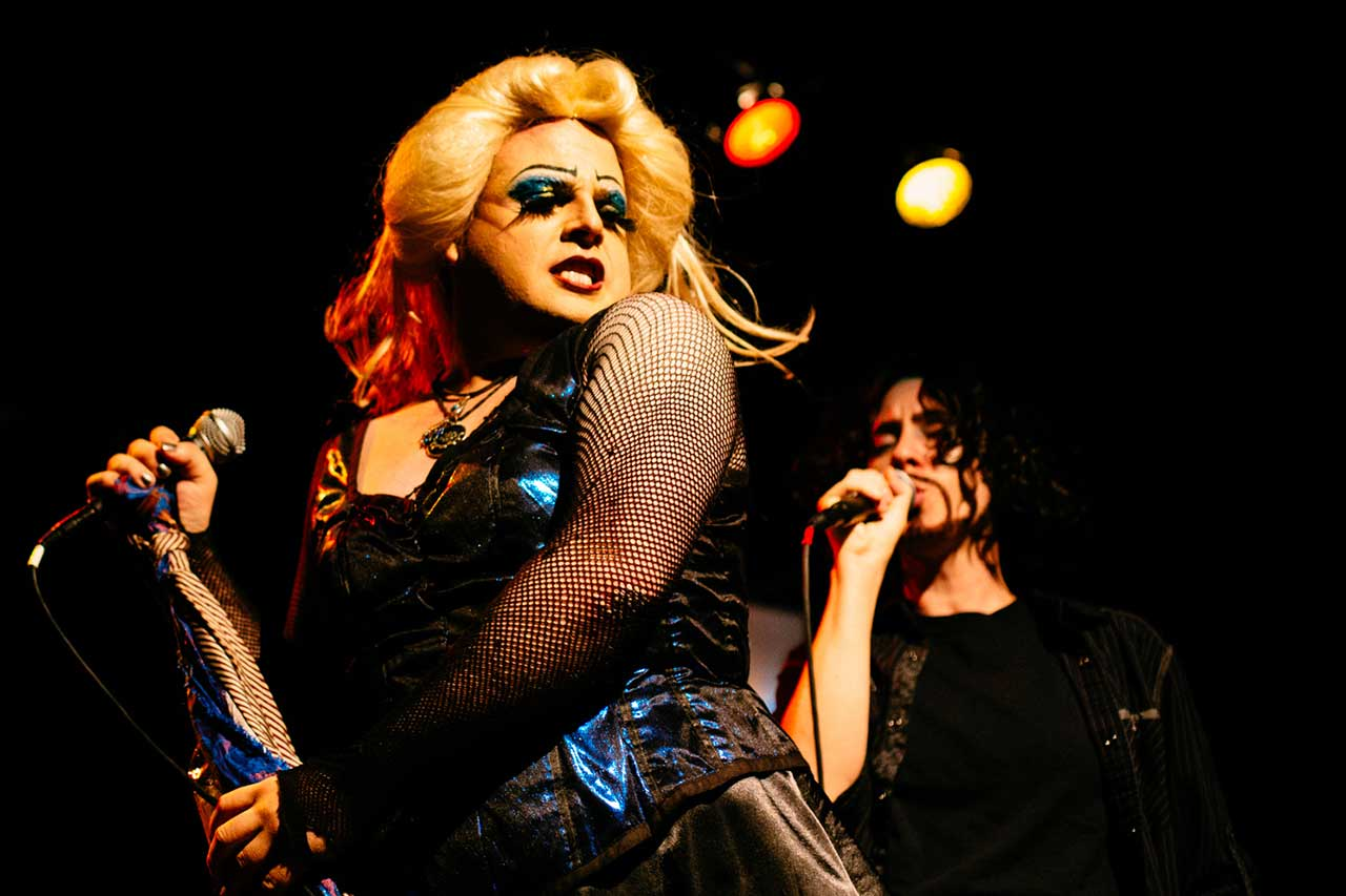 (L-R) Spencer Meyers and Amy Gray in Jobsite's Hedwig and the Angry Inch. (Photo courtesy Crawford Long.)