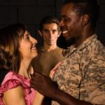 (L-R) Tatiana Baccari, Giles Davies and Robert Richards Jr. in Jobsite's Othello.